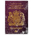 british passport vector image vector image