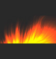 burning fire blazing flame background vector image