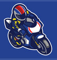 cartoon style of sportbike motorcycle vector image vector image
