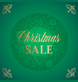 christmas sale abstract retro label sign vector image vector image
