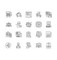 computer programming line icons signs set vector image vector image