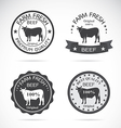 Cow label vector image vector image