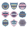 creative vintage brand isolated label set vector image vector image