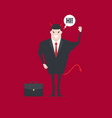 devil businessman character saying hi vector image
