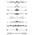dividers and borders set vector image vector image