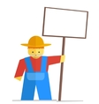 farmer with sign vector image