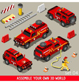 First Aid Vehicle Isometric vector image vector image