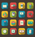 Flat Icons of Financial Service Items vector image vector image