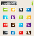 Food and kitchen bookmark icons