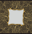 frame made of curly golden hand draw elements vector image vector image