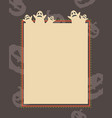 frame of halloween theme style collection vector image vector image