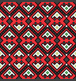 geometric tribal decorative pattern in red vector image vector image