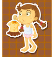 Girl and dress vector image vector image