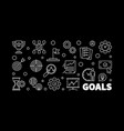 goals modern or banner in thin vector image vector image