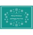 green greeting postcard for christmas - flyers vector image