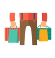 Hand with shopping bag vector image