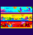 happy holi background for festival of color vector image vector image