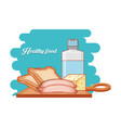 healthy food diet set products vector image vector image