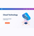 isometric cloud technology theme2 vector image vector image