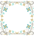 jewelry pattern border vector image vector image