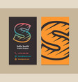 letter s logo business card vector image vector image