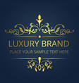 luxury brand gold vintage template design i vector image