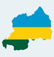 map-rwanda country vector image vector image