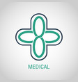 medical logo icon design vector image vector image