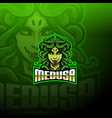 medusa esport mascot logo design vector image vector image