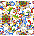 mexican seamless pattern flowers vector image