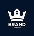 modern royal estate logo vector image
