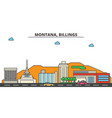montana billingscity skyline architecture vector image vector image
