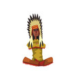 native american indian chief in traditional vector image vector image
