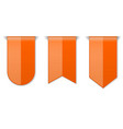 orange down arrow tags 3d shiny icons vector image vector image