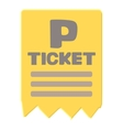 Parking ticket icon cartoon style vector image vector image