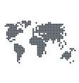 pixel scheme globe map geography vector image