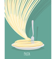 Plate of pasta A dish of Spaghetti vector image vector image