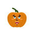 pumpkin happy emoji halloween and thanksgiving vector image vector image