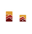 real estate home symbol house icon set collection vector image vector image