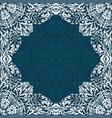 retro white boho floral frame vector image vector image