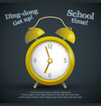 school learning template vector image