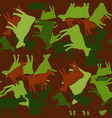 seamless cow pattern silhouette on brown vector image vector image