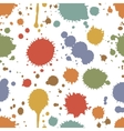 Seamless pattern of colorful stains and splashes vector image