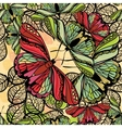 seamless spring pattern butterflies and flowers vector image vector image