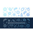 set of 2 microorganism blue creative vector image vector image