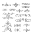 set of calligraphic design elements and vector image vector image