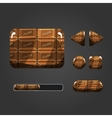 Set of chocolate different buttons vector image