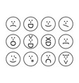 set of emoticons emoji of punctuation characters vector image
