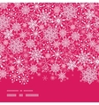 snowflake texture horizontal border seamless vector image vector image