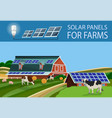 solar batteries for farm vector image